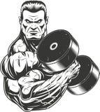 Bodybuilder z dumbbell Obraz Royalty Free