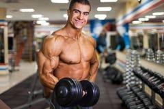 Bodybuilder z dumbbell Zdjęcie Royalty Free