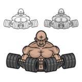 Bodybuilder z dumbbells Zdjęcia Royalty Free