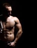 Bodybuildermann Stockfoto