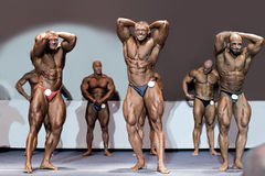 Bodybuilders που παρουσιάζει μυς Στοκ Εικόνα
