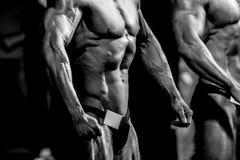 Bodybuilders d'athlètes d'homme photo stock