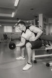 Bodybuilders engaged in the gym Royalty Free Stock Photography