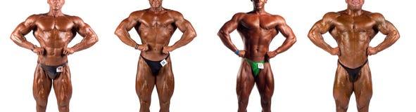Bodybuilders flexing Stock Photos