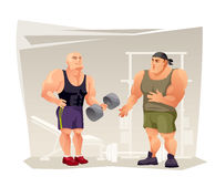 Bodybuilders in the gym. Stock Images
