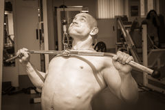 Bodybuilders at the gym Royalty Free Stock Photos