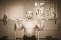 Bodybuilders at the gym Stock Images
