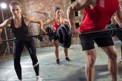 Bodybuilders have training Stock Photos