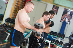 Bodybuilders lifting weight at sport gym Royalty Free Stock Image