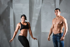 Bodybuilders. Stock Image