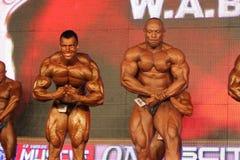 Bodybuilders posing Stock Image