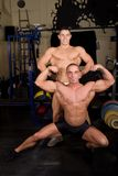 Bodybuilders posing Royalty Free Stock Photo