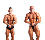 Bodybuilders posing Royalty Free Stock Photos