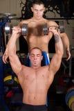 Bodybuilders training stock photos