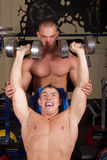 Bodybuilders training Stock Photography