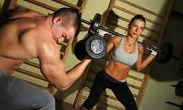 Bodybuilders training Stock Photography