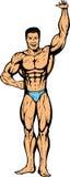 Bodybuildersammeln etwas herauf Unkosten Lizenzfreie Stockfotos