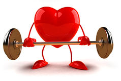 bodybuilding καρδιά απεικόνιση αποθεμάτων