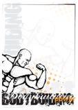 Bodybuilding background Stock Photos