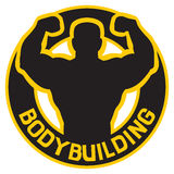 Bodybuilding badge Royalty Free Stock Image