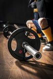 Bodybuilding, Barbell Closeup Stock Images