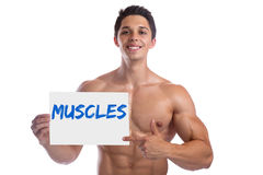 Bodybuilding bodybuilder body builder building muscles muscle si Royalty Free Stock Photos