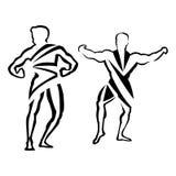 Bodybuilding. Bodybuilder Logo Template. Vector object and Icons for Sport Label, Gym Badge, Fitness Logo Design, Emblem Graphics.Sport Symbol, Exercise Logo Royalty Free Stock Images