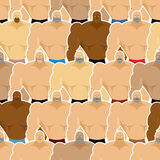 Bodybuilding competitions seamless pattern. Many athletes males. Royalty Free Stock Images