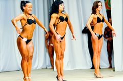 Bodybuilding competitions among women Royalty Free Stock Photography