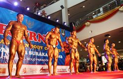 Bodybuilding contest Royalty Free Stock Image