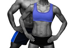 Bodybuilding couple Stock Photos