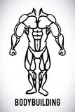 Bodybuilding design Royalty Free Stock Images