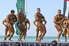 bodybuilding dykdubai för mästerskap 3 sky Arkivfoton
