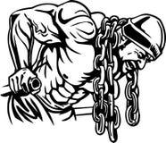 Bodybuilding en Powerlifting - vector. Royalty-vrije Stock Foto's