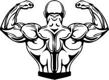 Bodybuilding en Powerlifting - vector. Stock Afbeeldingen