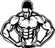 Bodybuilding en Powerlifting - vector. Royalty-vrije Stock Foto