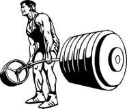 Bodybuilding en Powerlifting - vector. Stock Foto's