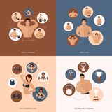 Bodybuilding fitness gym flat set Stock Images