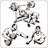 Bodybuilding and Fitness - vector illustration. Stock Image