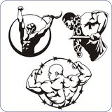 Bodybuilding and Fitness - vector illustration. Stock Photo