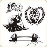Bodybuilding and Fitness - vector illustration. Stock Images