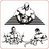 Bodybuilding and Fitness - vector illustration. Royalty Free Stock Photos