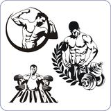 Bodybuilding and Fitness - vector illustration. Stock Photos