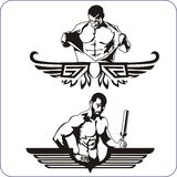 Bodybuilding and Fitness - vector illustration. Royalty Free Stock Image