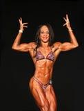 Bodybuilding Gal Sports Double Biceps Royalty-vrije Stock Foto's