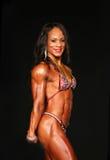 Bodybuilding Gal Sports Ripped Physique et fossettes Photo libre de droits