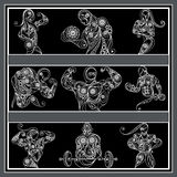 Bodybuilding royalty free illustration
