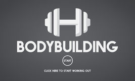 Bodybuilding Health Get Fit Fitness Exercise Body Pump Concept Royalty Free Stock Photography