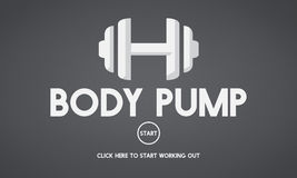 Bodybuilding Health Get Fit Fitness Exercise Body Pump Concept Stock Images