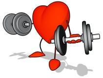 Bodybuilding heart Stock Photo